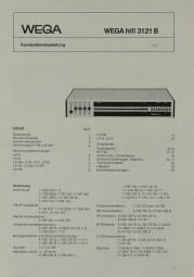 Wega Wega Hifi 3121 B Schaltplan / Serviceunterlagen
