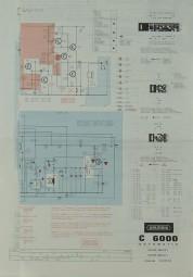 Grundig C 6000 Schaltplan / Serviceunterlagen