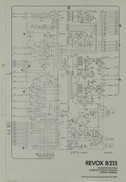 Revox B 215 Schaltplan / Serviceunterlagen