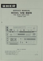 Uher VG 825 Schaltplan / Serviceunterlagen