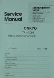 Onkyo TA-2066 Schaltplan / Serviceunterlagen