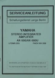 Yamaha AX-500 / AX-500 U Schaltplan / Serviceunterlagen