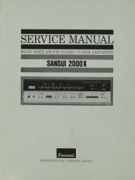 Sansui 2000 X Schaltplan / Serviceunterlagen