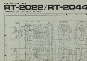 Pioneer RT-2022 / RT-2044 Schaltplan / Serviceunterlagen