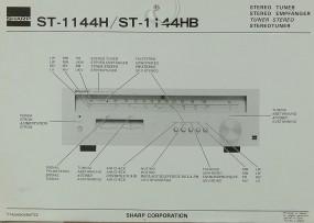 Sharp ST-1144 H / ST-1144 HB Prospekt / Katalog