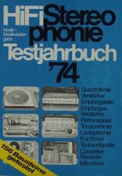 Hifi Stereophonie Testjahrbuch ´74 Hifi-Jahrbuch