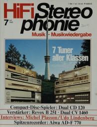 Hifi Stereophonie 7/1983 Zeitschrift