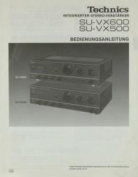 Technics SU-VX 600 / SU-VX 500 Bedienungsanleitung