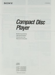 Sony CDP-X 505 ES / CDP-X 303 ES / CDP-X 202 ES Bedienungsanleitung