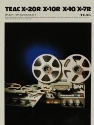 Teac X-20R / X-10R / X-10 / X-7R Prospekt / Katalog