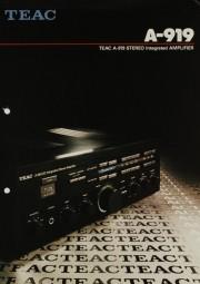 Teac A-919 Prospekt / Katalog