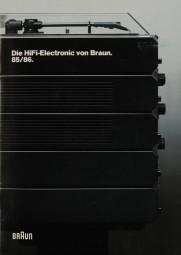 Braun Die HiFi Electronic von Braun. 85/86 Prospekt / Katalog