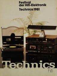 Technics Festival der HiFi-Elektronik. Technics 1981 Prospekt / Katalog