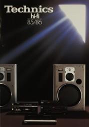 Technics Technics HiFi 85/86 Prospekt / Katalog