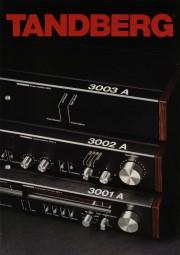 Tandberg 3003 A / 3002 A / 3001 A u.a. Prospekt / Katalog