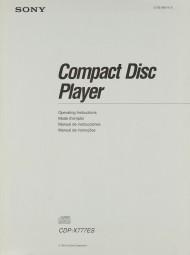 Sony CDP-X 777 ES Bedienungsanleitung