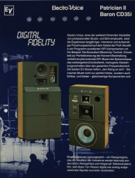 Electro-Voice / Gulton Patrician II / Baron CD35i Prospekt / Katalog