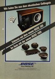 Bose Zuhause mit Bose 301 / Im Auto mit Bose 1401 Prospekt / Katalog