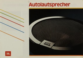 JBL Autolautsprecher Prospekt / Katalog