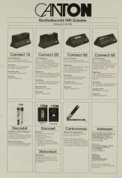 Canton Geräteübersicht HiFi-Studio-Zubehör 1.6.1982 Prospekt / Katalog