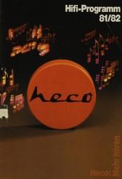Heco HiFi-Programm 81/82 Prospekt / Katalog
