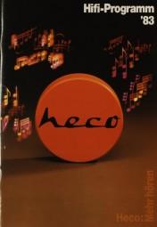 Heco HiFi-Programm ´83 Prospekt / Katalog