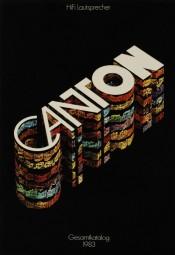 Canton Gesamtkatalog 1983 Prospekt / Katalog