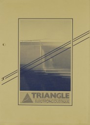 Triangle Electroacoustique Triangle Minimum / Transept / CX3E Prospekt / Katalog