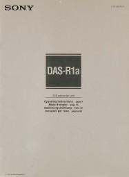 Sony DAS-R1 a Bedienungsanleitung