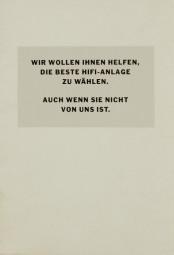 Linn Wir wollen Ihnen helfen, … Prospekt / Katalog