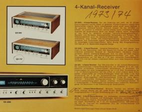 Pioneer 4-Kanal Receiver QX- Serie / 1973/74 Prospekt / Katalog