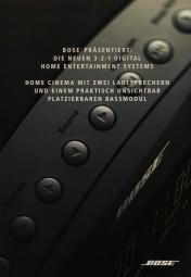 Bose Die neuen 3-2-1 Digital Home Entertainment Systems Prospekt / Katalog